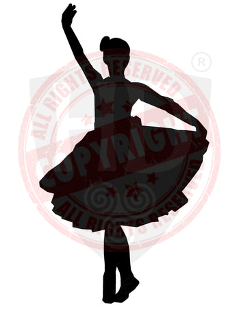 Girl Highland Dancer Decal #5