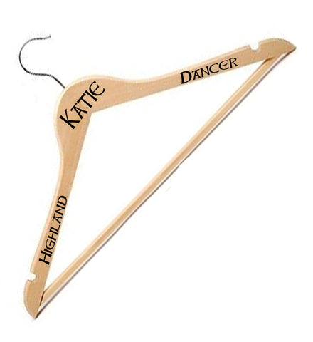 Coat Hanger Pine Personalised - The Highland Dancer - 1