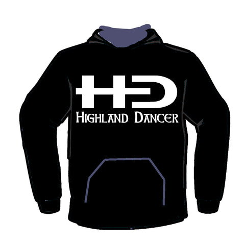 HD Logo with Highland Dancer Words - Classic Hoodie - Kids