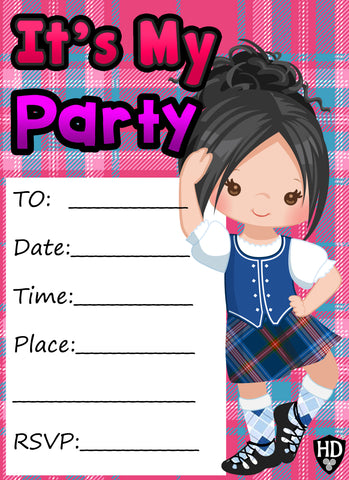 Party Invite #1c (Full Colour) (FREE DIGITAL DOWN LOAD)