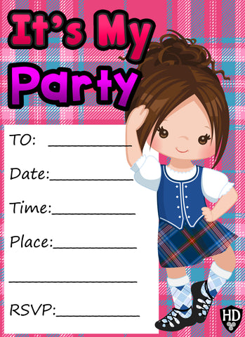 Party Invite #1d (Full Colour) (FREE DIGITAL DOWN LOAD)