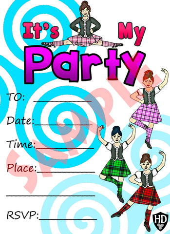 Party Invite #1 (Full Colour) (FREE DIGITAL DOWN LOAD)
