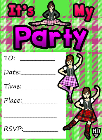 Party Invite 2 (Full Colour) (FREE DIGITAL DOWN LOAD)