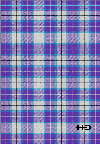 Beach Towel Royal Bonnie Blue Tartan