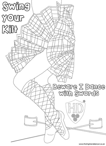 Swing your Kilt Colour Sheet FREE Digital download!!! #2 (Dancer Hollie Shumway)