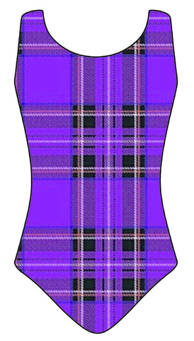Tartan Lycra Leotard - Adults