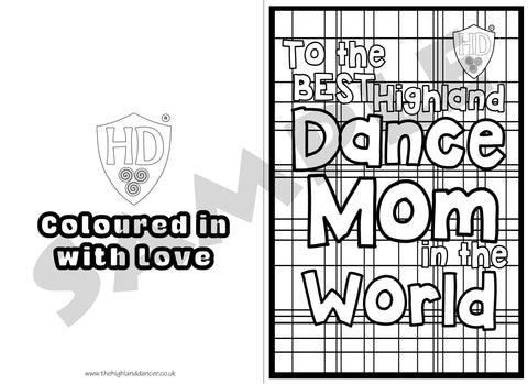 Mom Colour in Birthday & Mothers Day Card (FREE Digital Down Load) #2