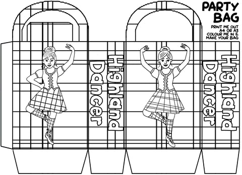 Colour in Tartan Party Bags (FREE Digital Download)