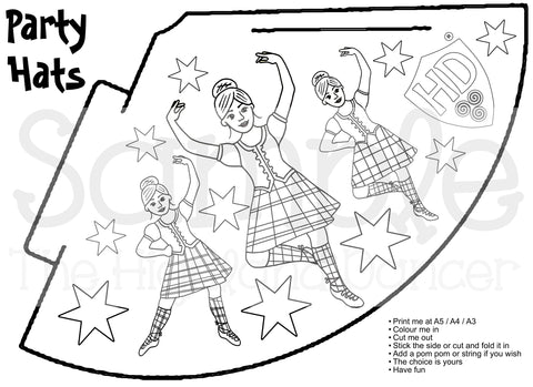 Party Hat - Colour in Girl #2 (FREE Digital File)