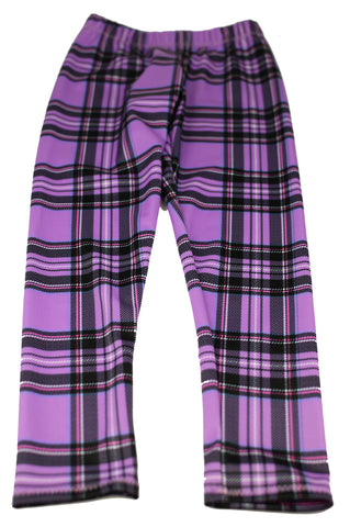 Tartan Lycra Leggings - Kids