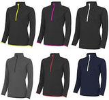 Cool 1/2 Zip Sweat Top - Ladies