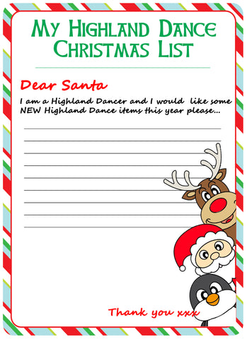 A4 XMAS Santa Letter- (FREE Digital Download)