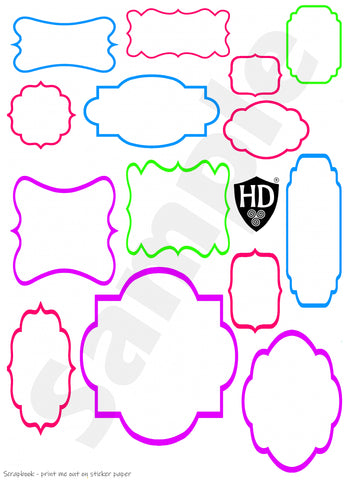 Scrapbook Speech Bubbles #3 (FREE Digital Download)