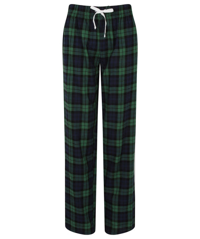 Tartan PJ Lounge Pants - Navy/Green - Ladies