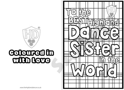 Sister Colour In Birthday Card (FREE Digital Down Load) #1