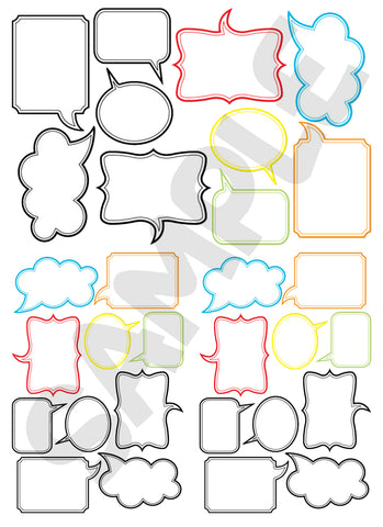 Scrapbook Speech Bubbles #4 (FREE Digital Download)