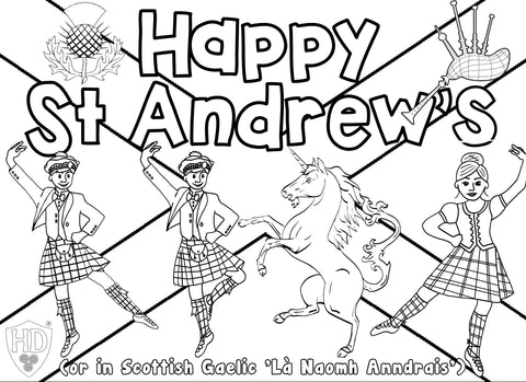 ST Andrew's Colour Sheet FREE Digital download!!! #2