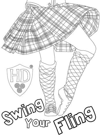 Swing your Fling Colour Sheet FREE Digital download!!! #1