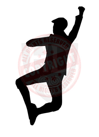 Male Highland Dancer Decal #24