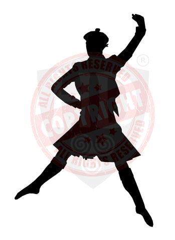 Male Highland Dancer Decal #22