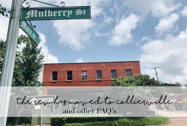 The Rev Has Moved to Collierville (and other FAQ's)