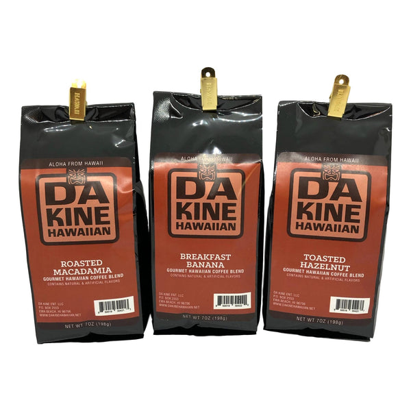 Hawaiian Coffee Blend 3-Pack Mix-n-Match