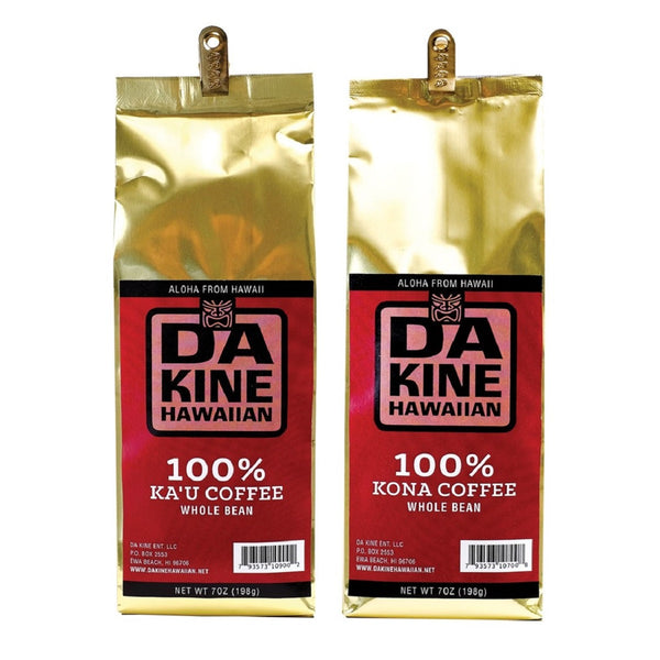 Da Kine Hawaiian 100% Kona & Ka'u Coffee Whole Bean