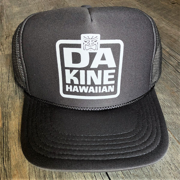 Da Kine Hawaiian Trucker Hat - Dark Gray