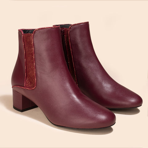 Bottines Sherlock Bordeaux