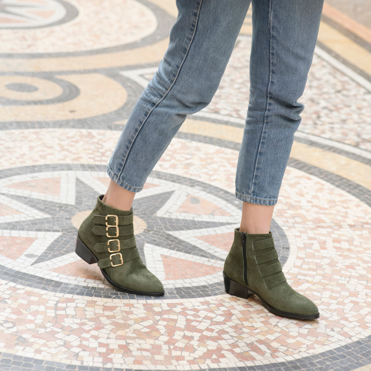 Look boot Sofia Kaki Anaki Paris