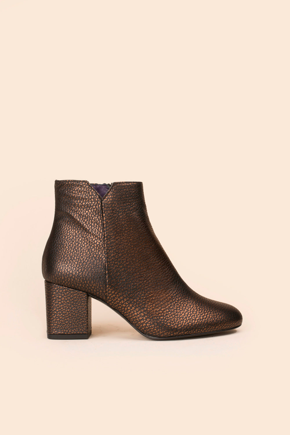Bottines Virgin cuir texturé bronze Anaki Paris
