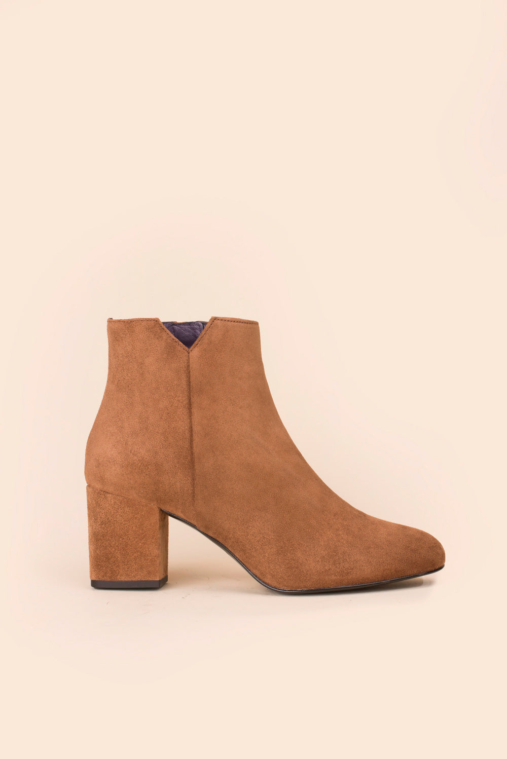 Bottines Virgin veau velours daim rhum Anaki