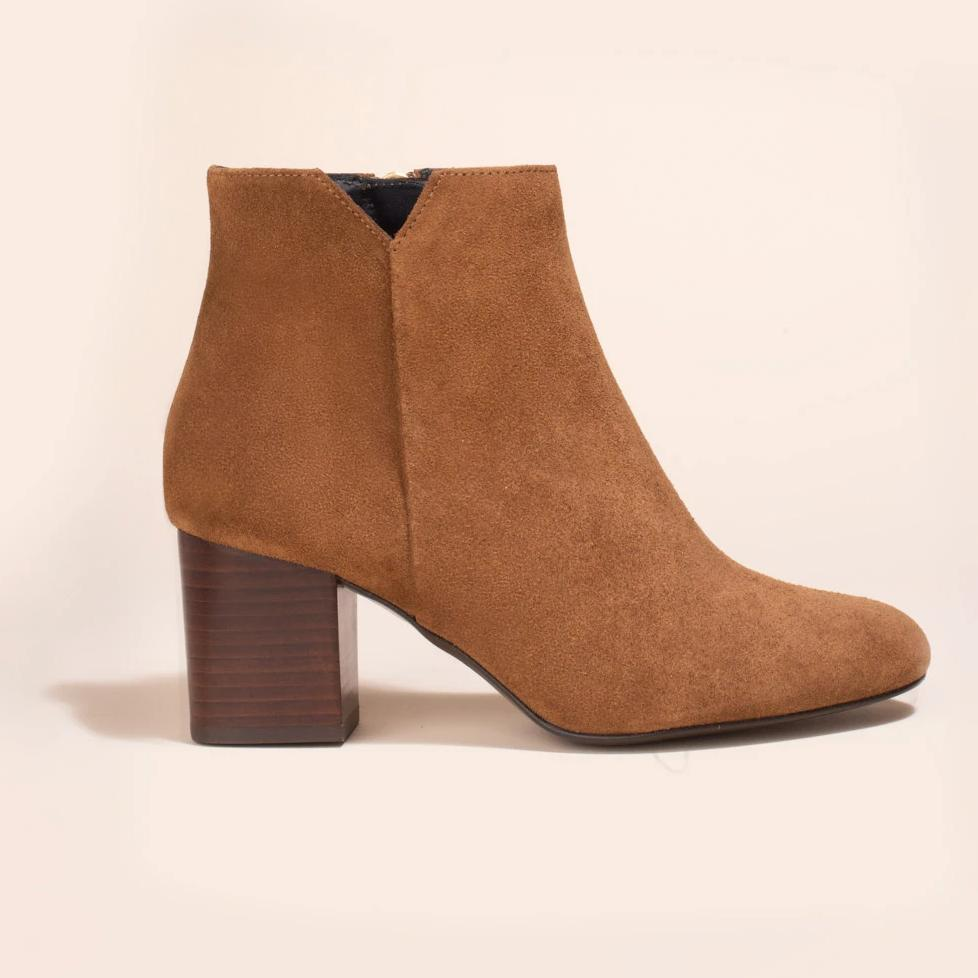 Boots Virgin Veau Velours Marron - Anaki Paris