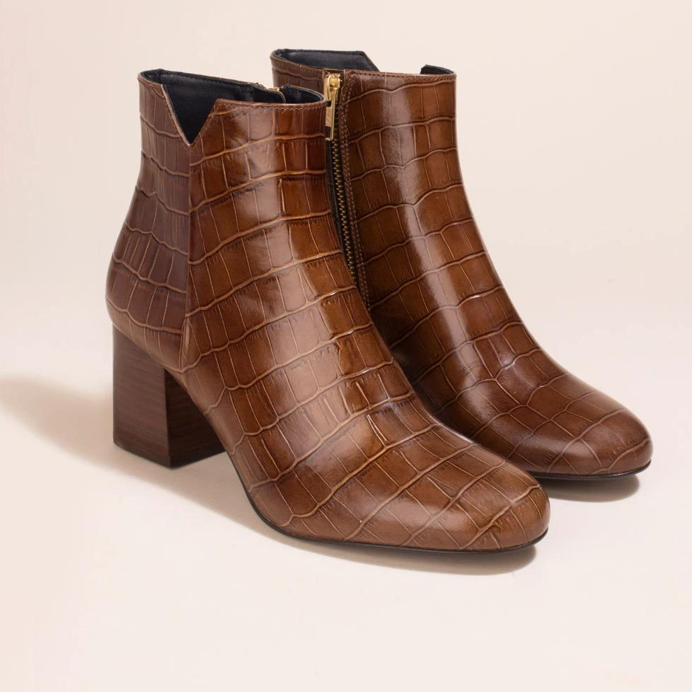 Boots Virgin Croco Caramel