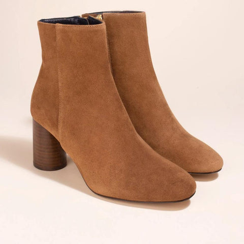 Boots Ripon Veau Velours Marron - Anaki Paris