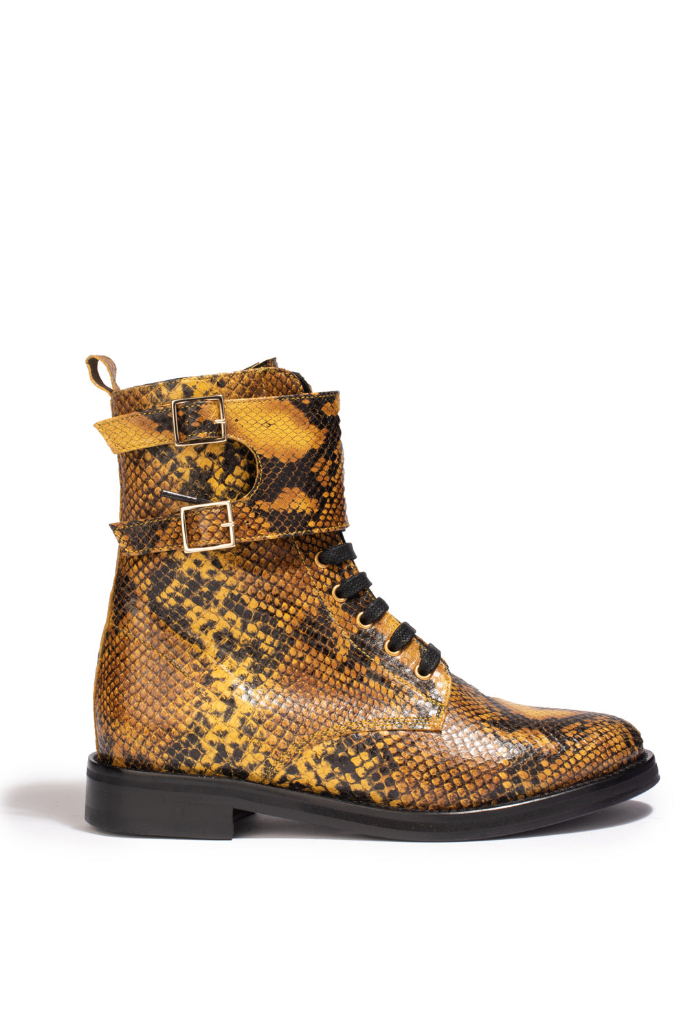 Bottines London Python Jaune - Anaki Paris