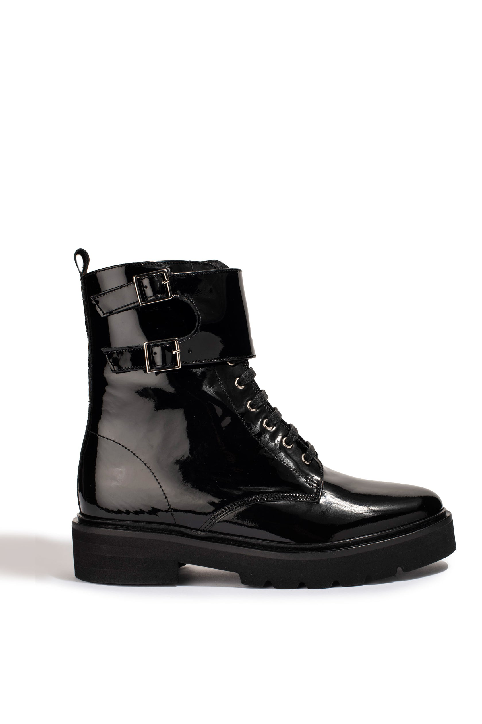 Bottines Lottie Vernis Noir - Anaki Paris