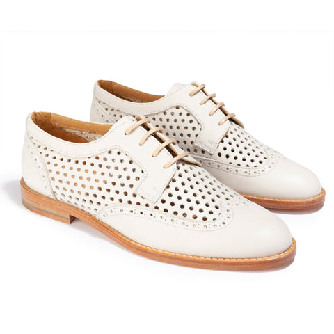 Derbies Margot Cuir Ivoire - Anaki Paris