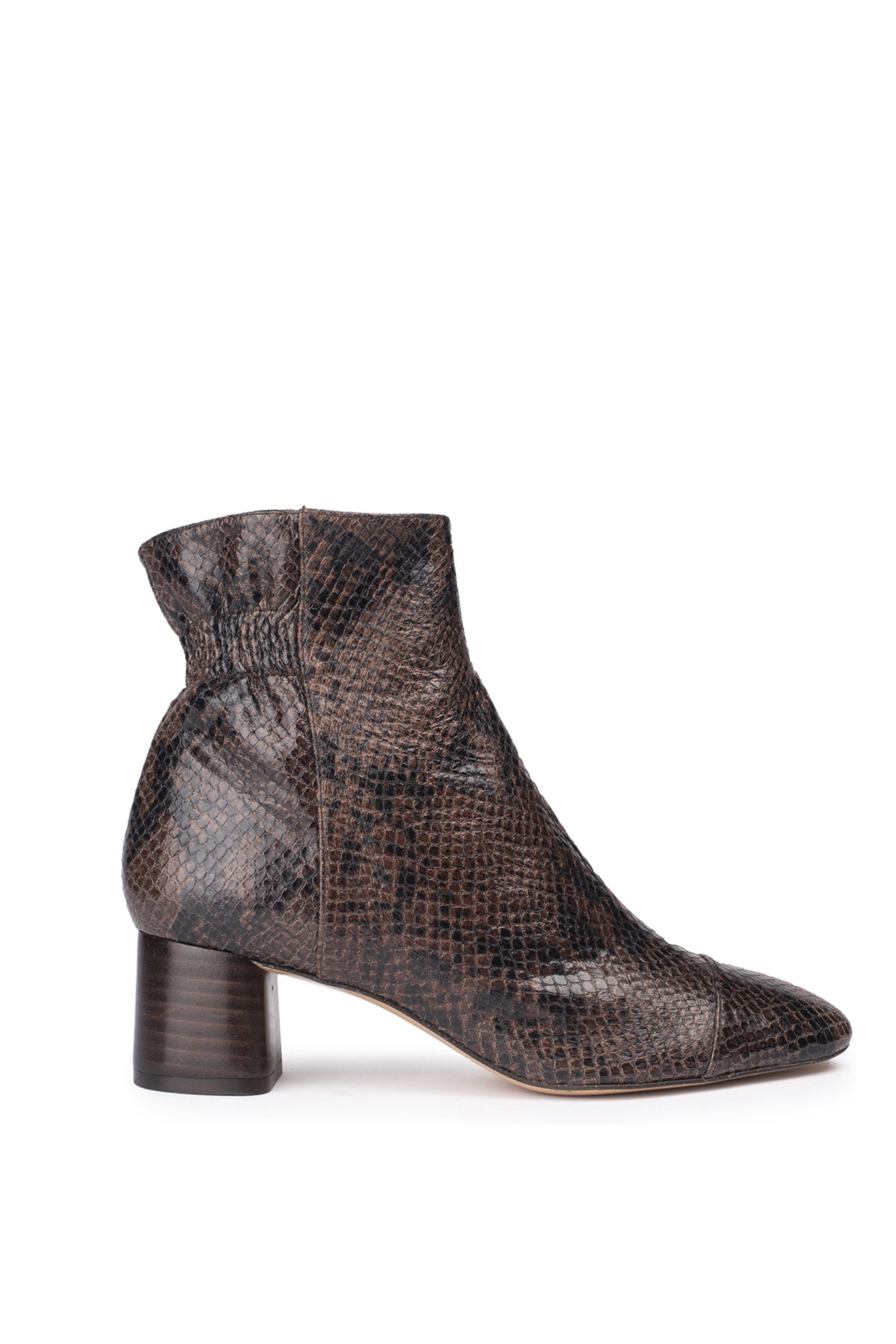 Bottines Pippa Python Marron - Anaki Paris