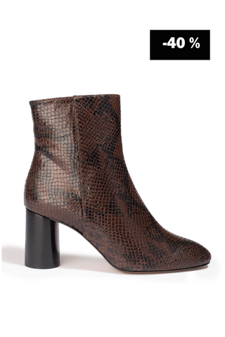 Bottines Ripon Python Marron