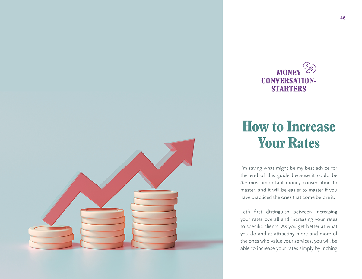 A page from Ilise Benun's Worth It guide on How to Raise Your Rates