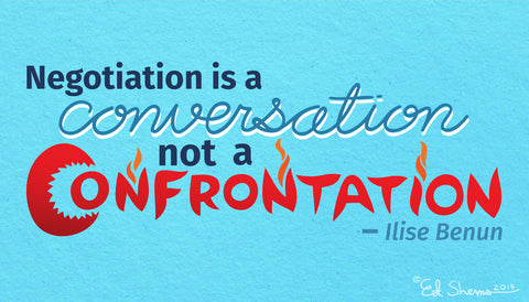 Negotiation is a conversation, not a confrontation