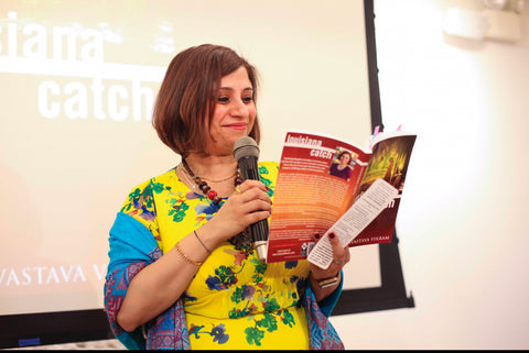 Sweta Vikram at her book launch hosted by Lululemon