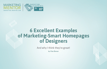 Excellent Examples #7 -- Marketing-Smart Homepages of Designers