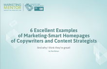 Excellent Examples #8 -- Marketing-Smart Homepages of Copywriters and Content Strategists