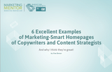 Excellent Examples #8 -- Marketing-Smart Homepages of Copywriters & Content Strategists