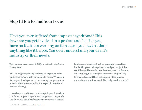 How to Find Your Focus excerpt from the Pick a Niche Ket