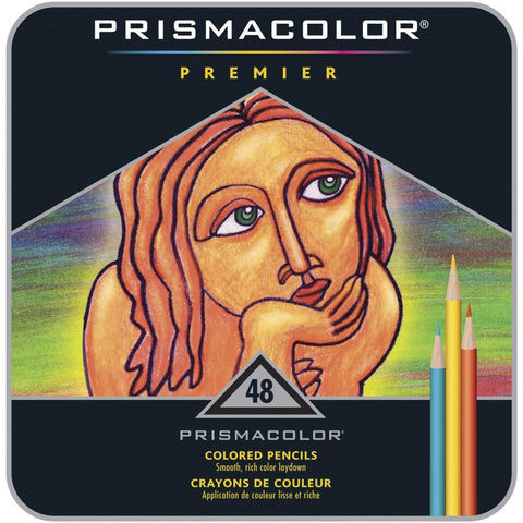 PRP-48 Prismacolor Coloured Artist Pencils ~ 48 Tin