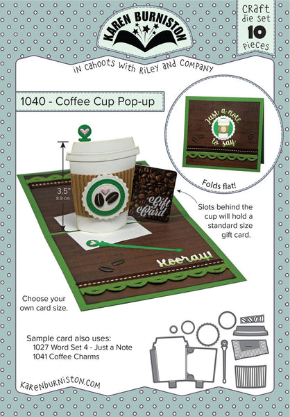 KBR-1040 ~ Coffee Cup Pop-up Die