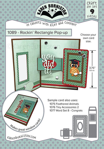 KBR-1089 ~ Rockin' Rectangle Pop-Up Die